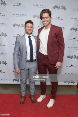 "LOS ANGELES, CA - SEPTEMBER 21: Scott Bender and Jake Red attend the premiere of ""Already Lucky"" at Downtown Independent Theater on September 21, 2018 in Los Angeles, California. (Photo by Michael Tullberg/Getty Images)"